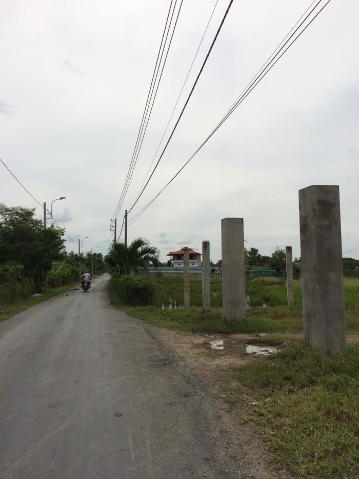Đất mặt tiền 1100m2, có 120m thổ cư, xã Tân Qúy Tây, Bình Chánh