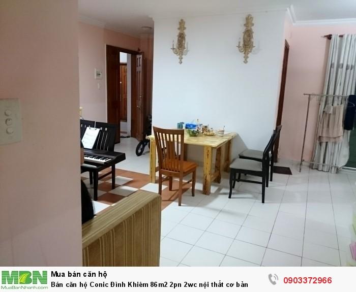 Bán căn hộ Conic Đình Khiêm 86m2 2pn 2wc nội thất cơ bản