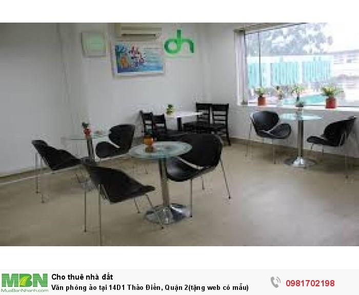 Văn phòng ảo tại 14D1 Thảo Điền, Quận 2(tặng web có mẫu)