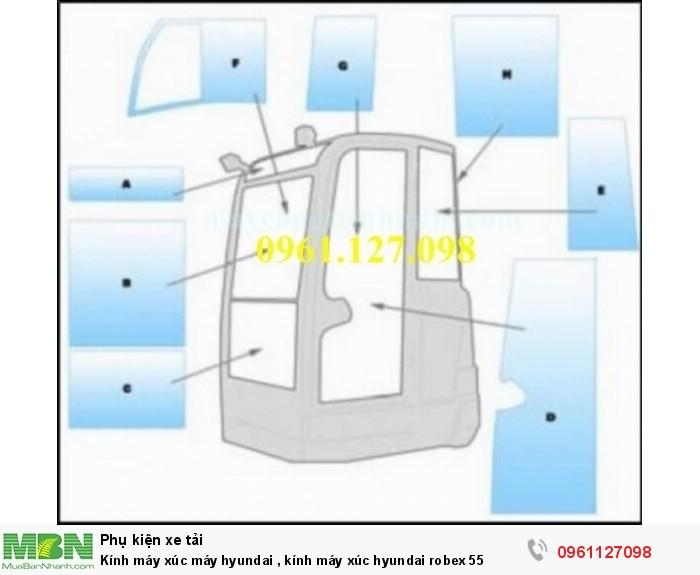 Kính máy xúc máy hyundai , kính máy xúc hyundai robex 55