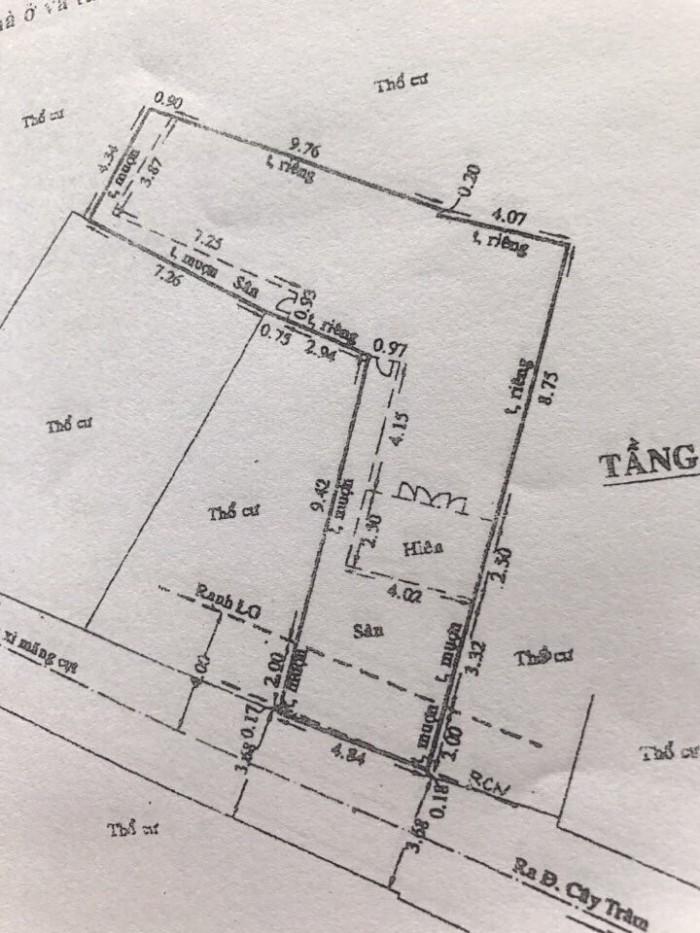 Bán Nhà hẻm 380 Cây Trâm, Phường 9, quận Gò Vấp, 5 x 17m, Cấp 4 nát, giá 35 tr/m2