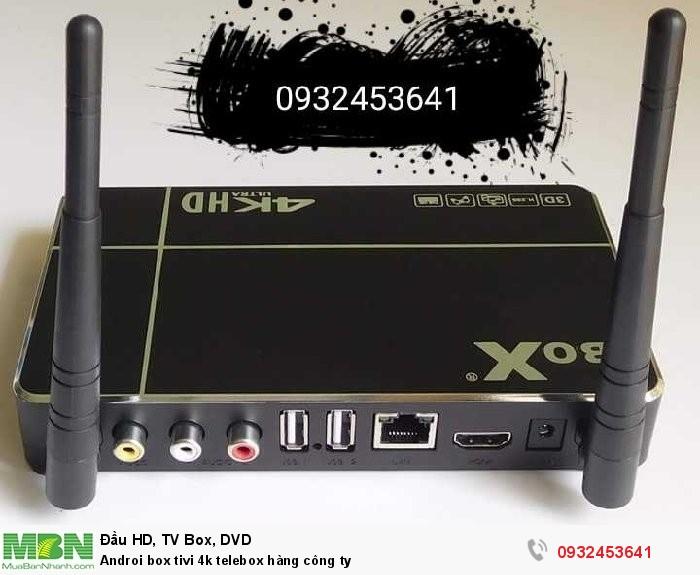 Androi box tivi 4k telebox hàng công ty0