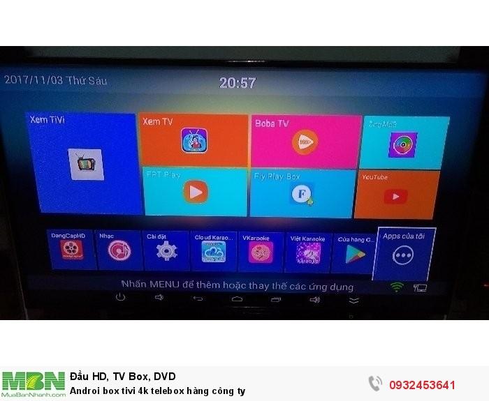 Androi box tivi 4k telebox hàng công ty2