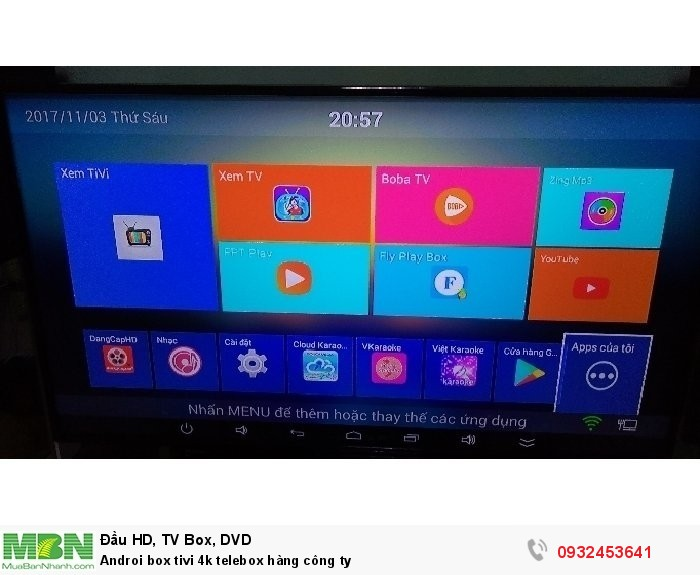 Androi box tivi 4k telebox hàng công ty4