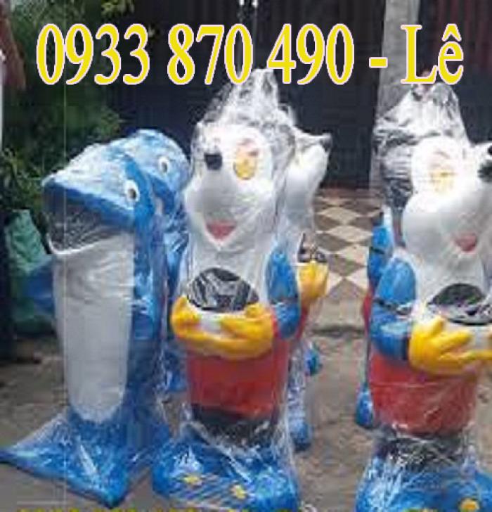 Thùng rác hình chim cánh cụt, chuộc mickey, con voi, con chuột túi, trong bệnh viện giá rẻ tại TPHCM-Việt Nam