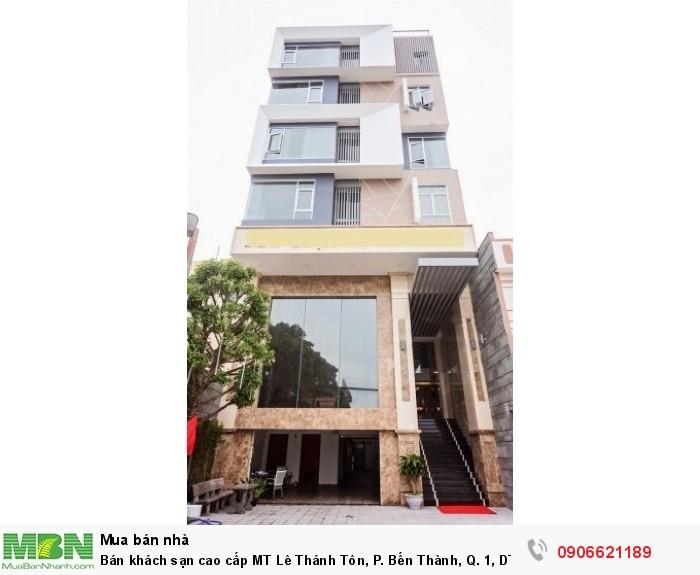 Bán khách sạn cao cấp MT Lê Thánh Tôn, P. Bến Thành, Q. 1, DT: 4x20m, 7 lầu.