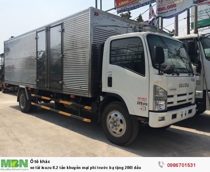 xe tải isuzu 8.2 tấn thùng kín