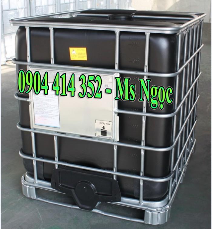 Bồn nhựa ibc 1000 lít ,thùng nhựa đựng hóa chất 1000 lít cũ
