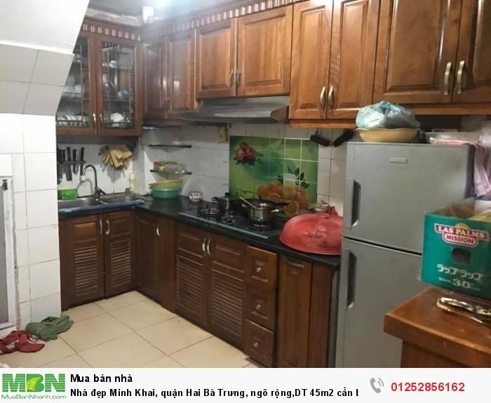 Nhà đẹp Minh Khai, quận Hai Bà Trưng, ngõ rộng,DT 45m2 cần bán gấp.