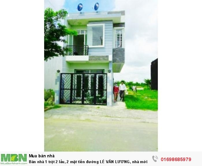 Bán nhà 1 trệt 2 lầu, 2 mặt tiền đường LÊ VĂN LƯƠNG, nhà mới xây, bao đẹp, xã NHƠN ĐỨC