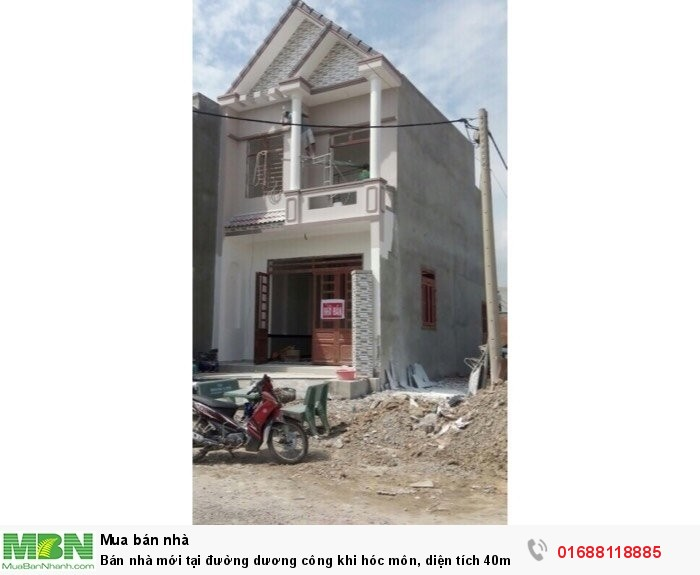 Bán nhà mới tại đường dương công khi hóc môn, diện tích 40m2