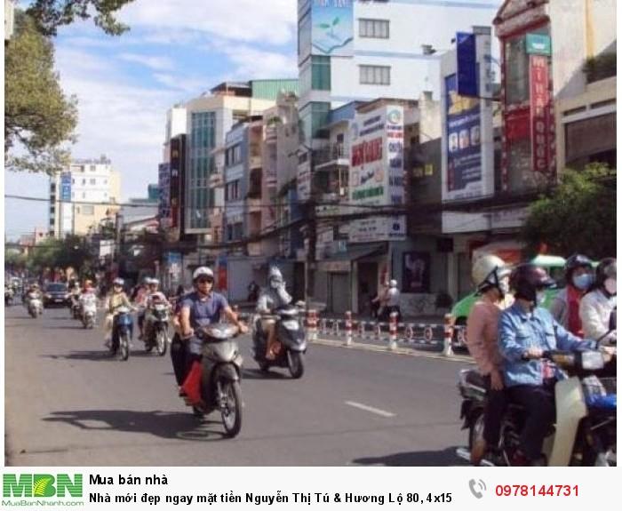 Nhà mới đẹp ngay mặt tiền Nguyễn Thị Tú & Hương Lộ 80, 4x15,5m, 1 lầu