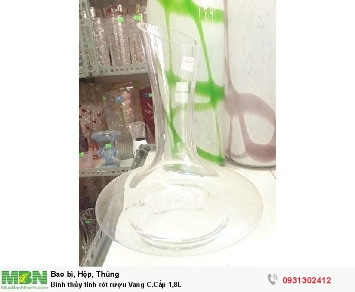 Bình thủy tinh rót rượu Vang C.Cấp 1,8L