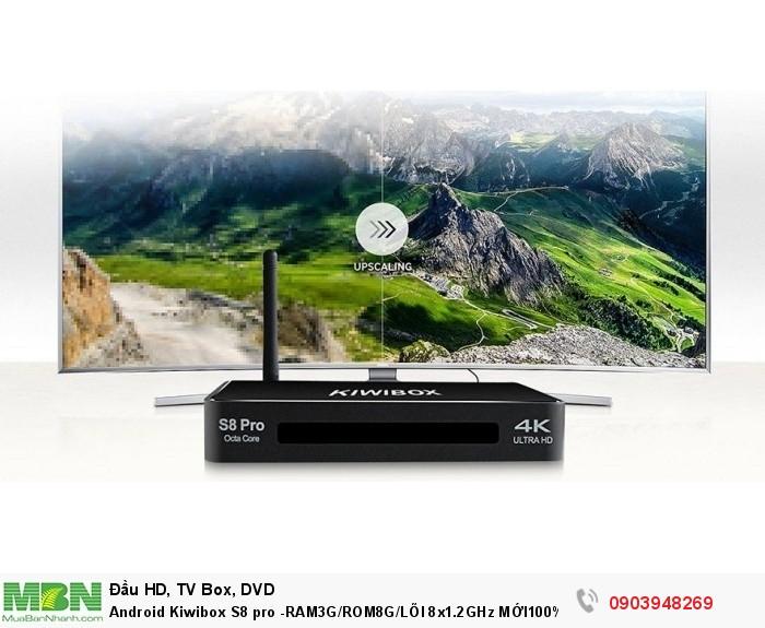 KiwiBox S8 pro- 1 Adapter/ 2A- Remote- CaB HDMI- CAB AV, Sách hướng dẫn sử dụng, khuyến mãi chuột không dây cao cấp.