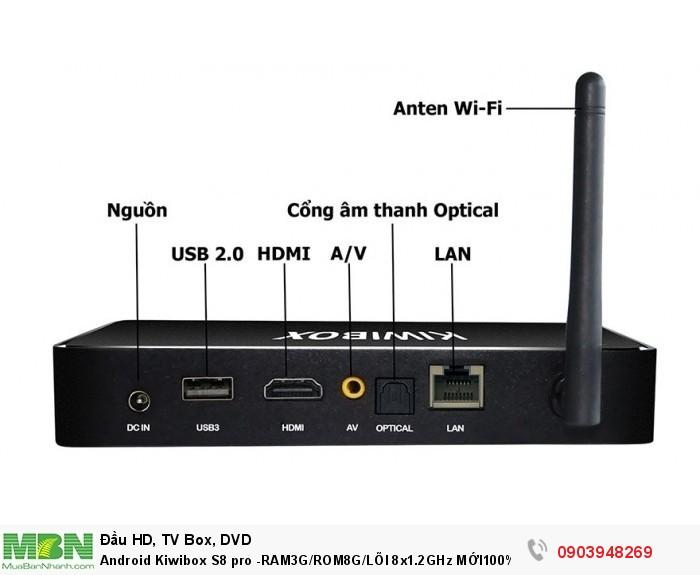 Chuẩn kết nối Wifi : 802.11 b/g/n, Chuẩn LAN : RJ-45 Ethernet Chuẩn HDMI : 1.4, AV