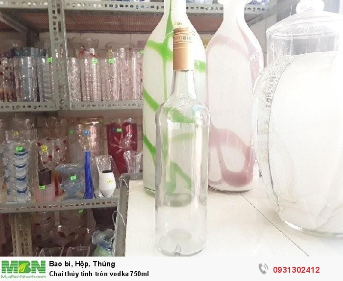 Chai thủy tinh tròn vodka 750ml