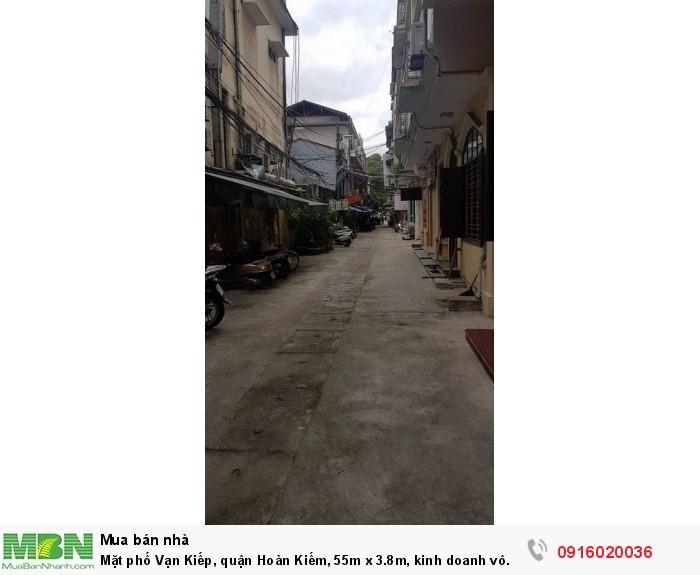 Mặt phố Vạn Kiếp, quận Hoàn Kiếm, 55m x 3.8m, kinh doanh vô đối!!!