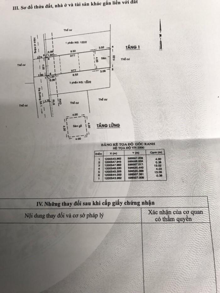Bán 2 căn cấp 4 nát Hẻm Đường số 1, Phường 13 quận Gò Vấp, 4 x 13,7m, 4 x 13,2m, giá 2,3 tỷ/căn