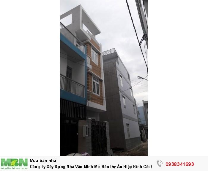 Công Ty Xây Dựng Nhà Văn Minh Mở Bán Dự Án Hiệp Bình Cách Chợ  400m  Nhà 4 Lầu Đường 5m