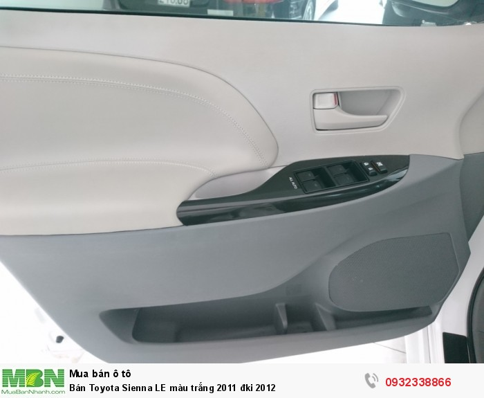 Bán Toyota Sienna LE màu trắng 2011 đki 2012 3