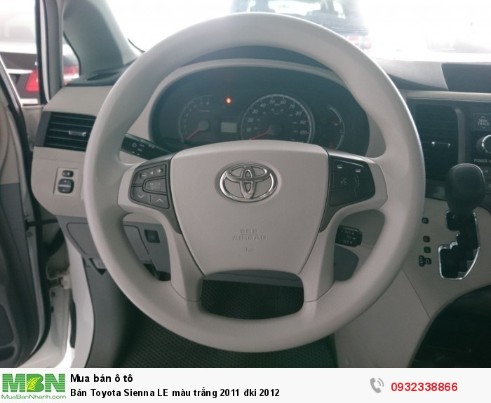 Bán Toyota Sienna LE màu trắng 2011 đki 2012 5