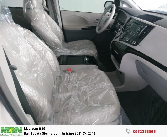 Bán Toyota Sienna LE màu trắng 2011 đki 2012 6