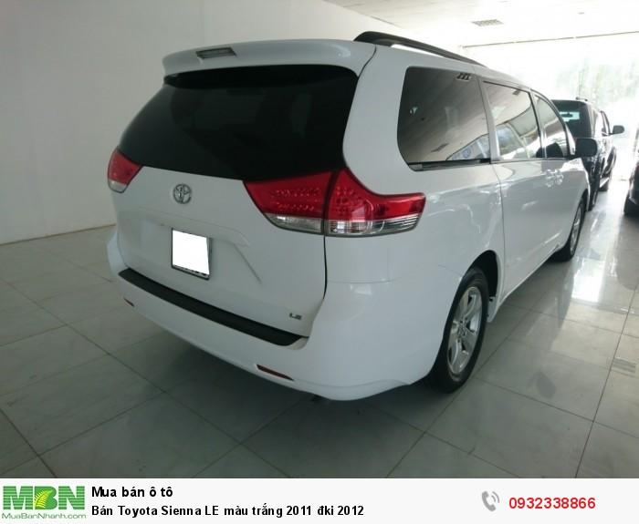 Bán Toyota Sienna LE màu trắng 2011 đki 2012 8
