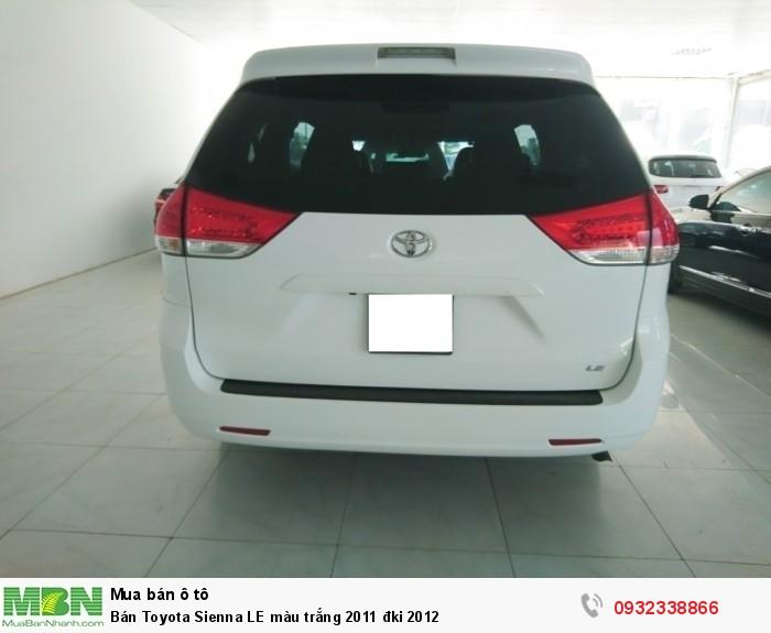Bán Toyota Sienna LE màu trắng 2011 đki 2012 9