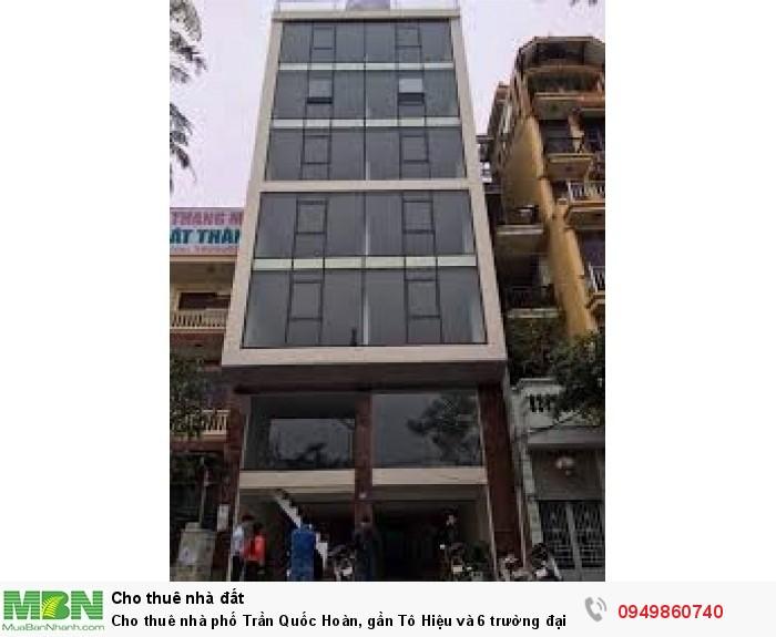 Cho thuê nhà phố Trần Quốc Hoàn, gần Tô Hiệu và 6 trường đại học lớn
