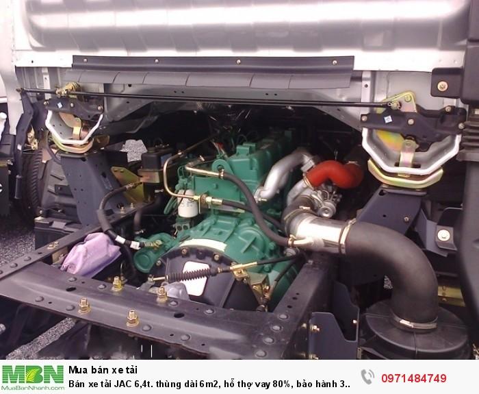Bán xe tải JAC 6,4t. thùng dài 6m2, hỗ thợ vay 80%, bảo hành 3 năm.