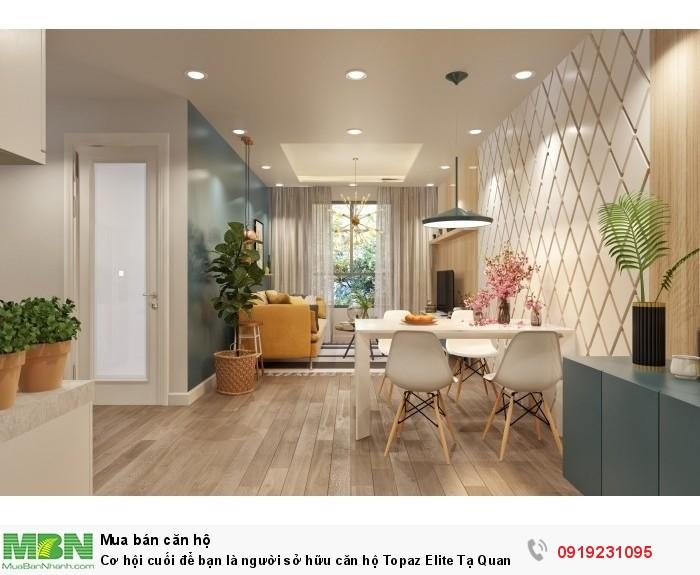 Cơ hội cuối để bạn là người sở hữu căn hộ Topaz Elite Tạ Quang Bửu, Quận 8