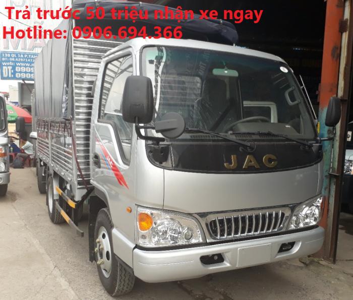 Xe tải jac 2.4 tấn thùng 3m7 hỗ trợ góp 85% xe toàn quốc 0