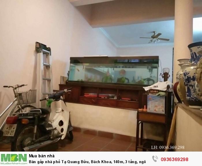 Bán gấp nhà phố Tạ Quang Bửu, Bách Khoa, 140m, 3 tầng, ngõ ô tô.