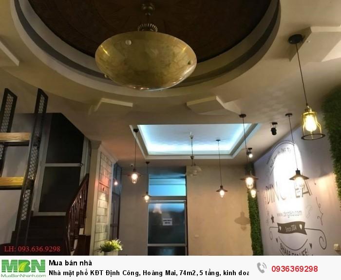 Nhà mặt phố KĐT Định Công, Hoàng Mai, 74m2, 5 tầng, kinh doanh đỉnh cao.