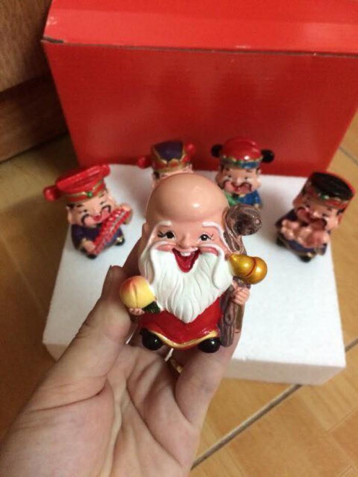 Bộ tượng 5 ông Thần Tài - loại to bằng sứ20