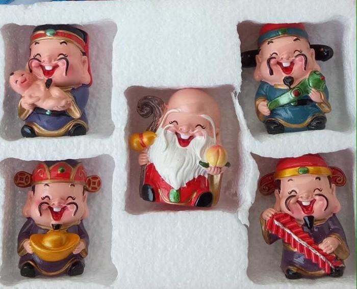 Bộ tượng 5 ông Thần Tài - loại to bằng sứ23