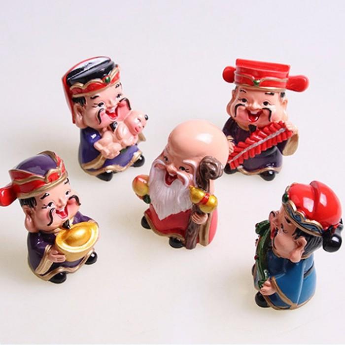 Bộ tượng 5 ông Thần Tài - loại to bằng sứ14