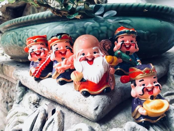 Bộ tượng 5 ông Thần Tài - loại to bằng sứ19