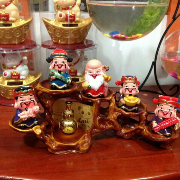 Bộ tượng 5 ông Thần Tài - loại to bằng sứ13