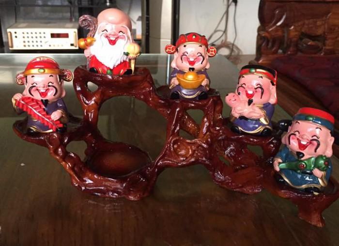 Bộ tượng 5 ông Thần Tài - loại to bằng sứ18