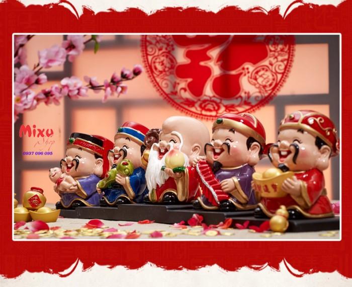 Bộ tượng 5 ông Thần Tài - loại to bằng sứ15
