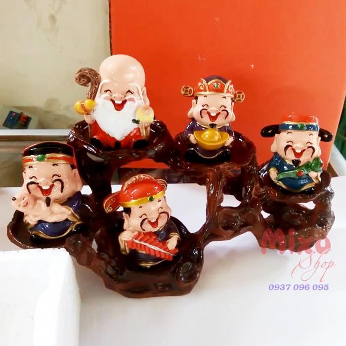 Bộ tượng 5 ông Thần Tài - loại to bằng sứ1