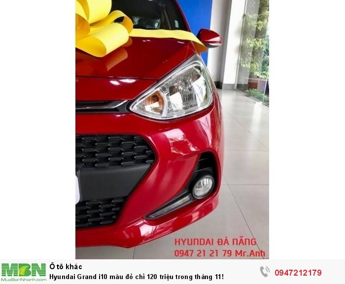 Hyundai Grand i10 màu đỏ chỉ 120 triệu trong tháng 11!