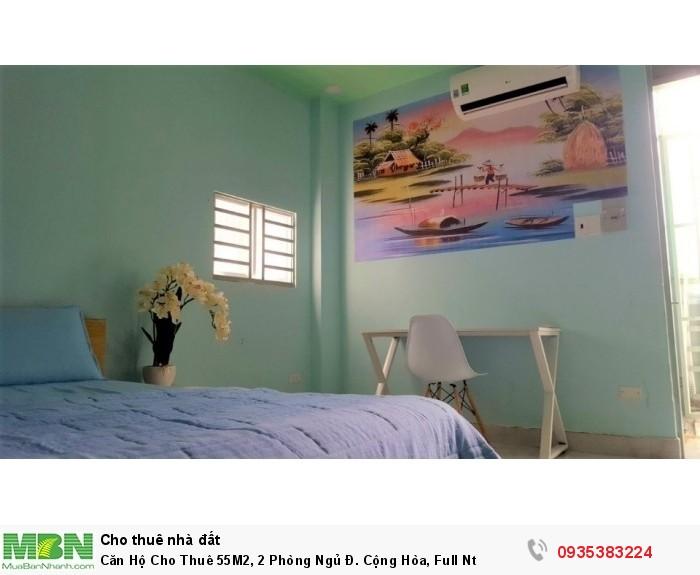 Căn Hộ Cho Thuê 55M2, 2 Phòng Ngủ Đ. Cộng Hòa, Full Nt