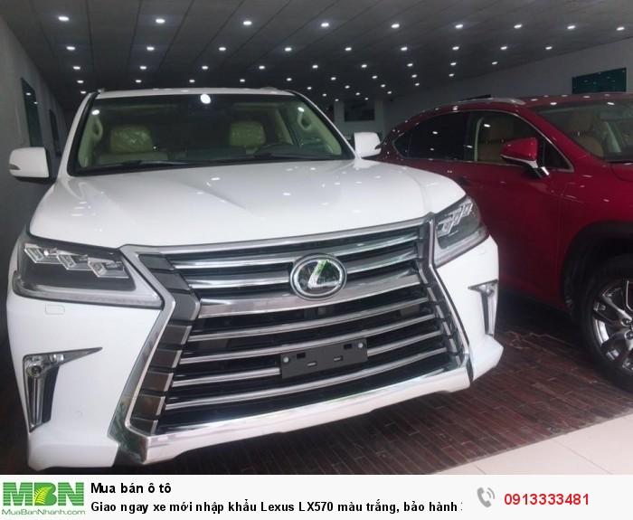 Giao ngay xe mới nhập khẩu  Lexus LX570 màu trắng, bảo hành 36 tháng