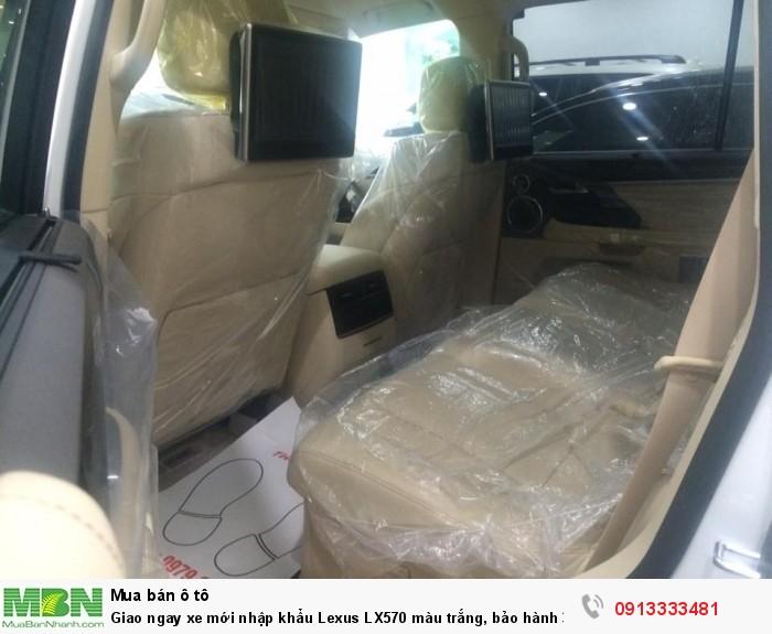 Giao ngay xe mới nhập khẩu  Lexus LX570 màu trắng, bảo hành 36 tháng 4