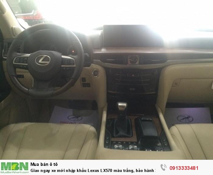 Giao ngay xe mới nhập khẩu  Lexus LX570 màu trắng, bảo hành 36 tháng 7