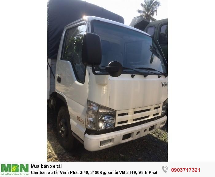 Cần bán xe tải Vĩnh Phát 3t49, 3490Kg, xe tải VM 3T49, Vĩnh Phát 3T5