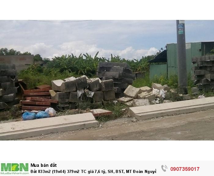 Đất 833m2 (19x44) 379m2 TC giá 7,6 tỷ, SH, BST, MT Đoàn Nguyễn Tuân, TQT, Bình Chánh