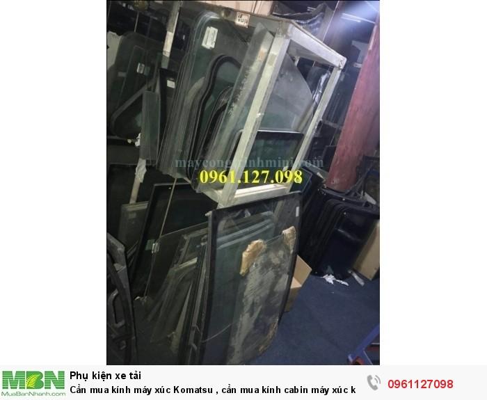 Kính máy xúc komatsu